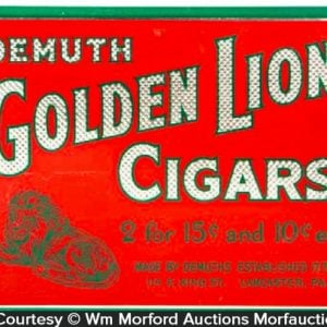 Golden Lion Cigar Sign