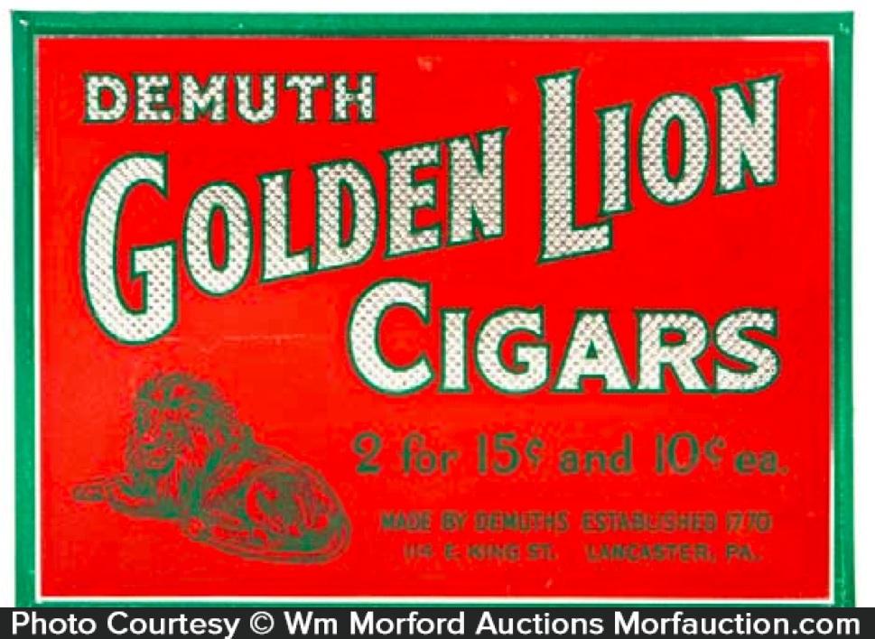 Golden Lion Cigar Sign
