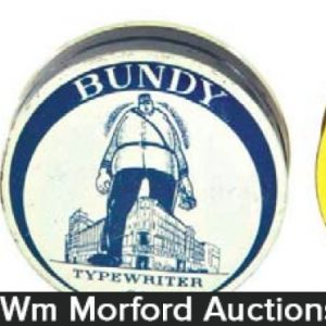 Bundy Typewriter Ribbon Tins