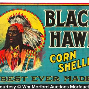 Black Hawk Corn Sheller Sign