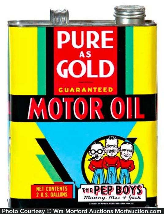 Pure As Gold Motor Oil Can
