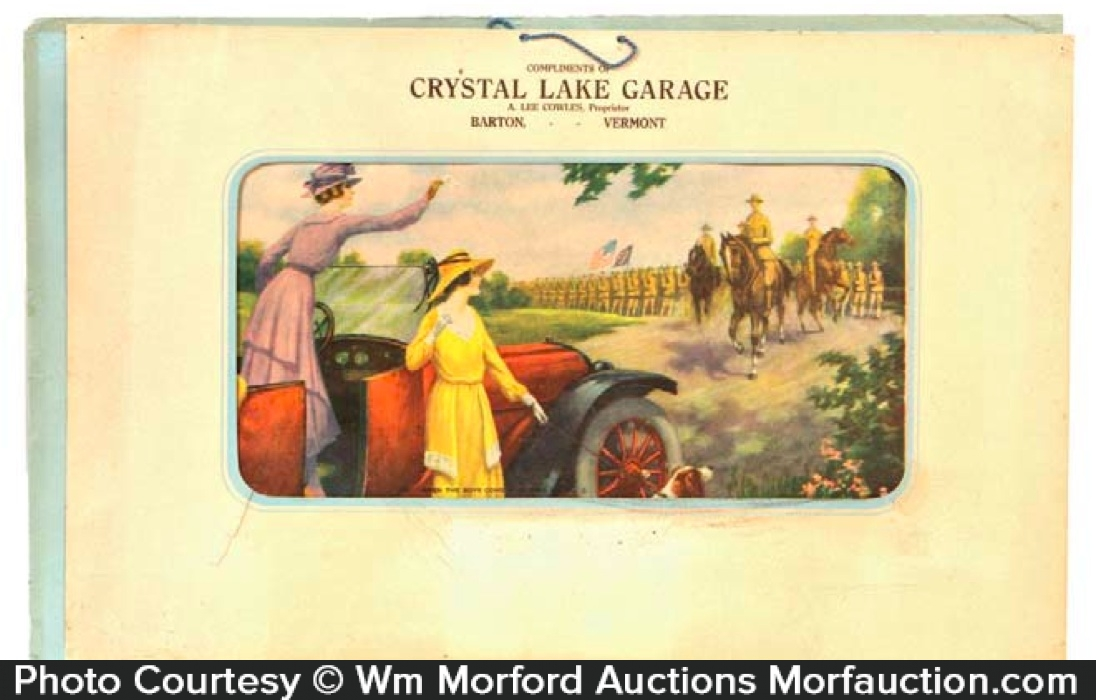 Antique advertising crystal lake garage ad antique for Garage ad montrevel