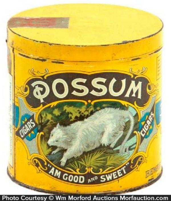 Possum Cigar Can