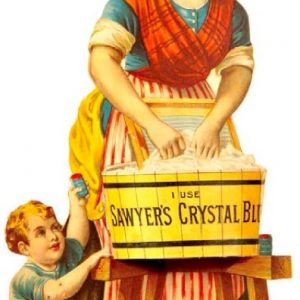 Sawyer's Crystal Bluing Sign