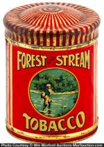 Forest and Stream Tobacco Can
