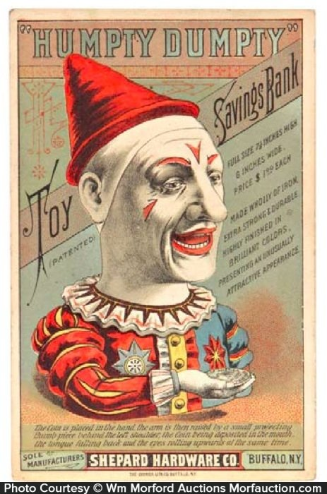 Humpty Dumpty Bank Trade Card