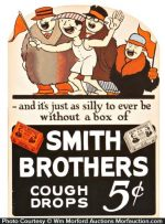 Smith Brothers Cough Drops Sign
