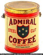Admiral Coffee Pail
