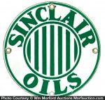 Sinclair Oils Porcelain Sign
