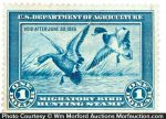 Department Of Agriculture Duck Stamp