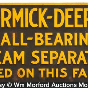 Mccormick-Deering Cream Separators Sign