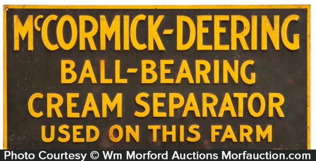 Mccormick-Deering Cream Separators Sign