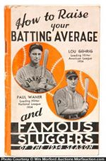1934 Louisville Sluggers Bat Catalog