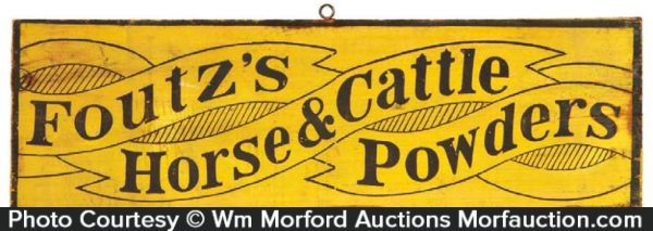 Foutz's Horse Powder Sign