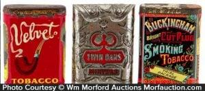 Vintage Tobacco Sample Pocket Tins