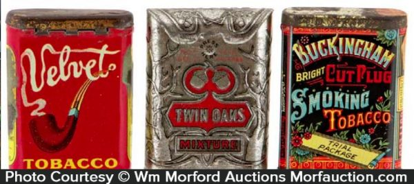 Vintage Tobacco Sample Pocket Tins