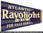 Atlantic Rayolight Oil Sign