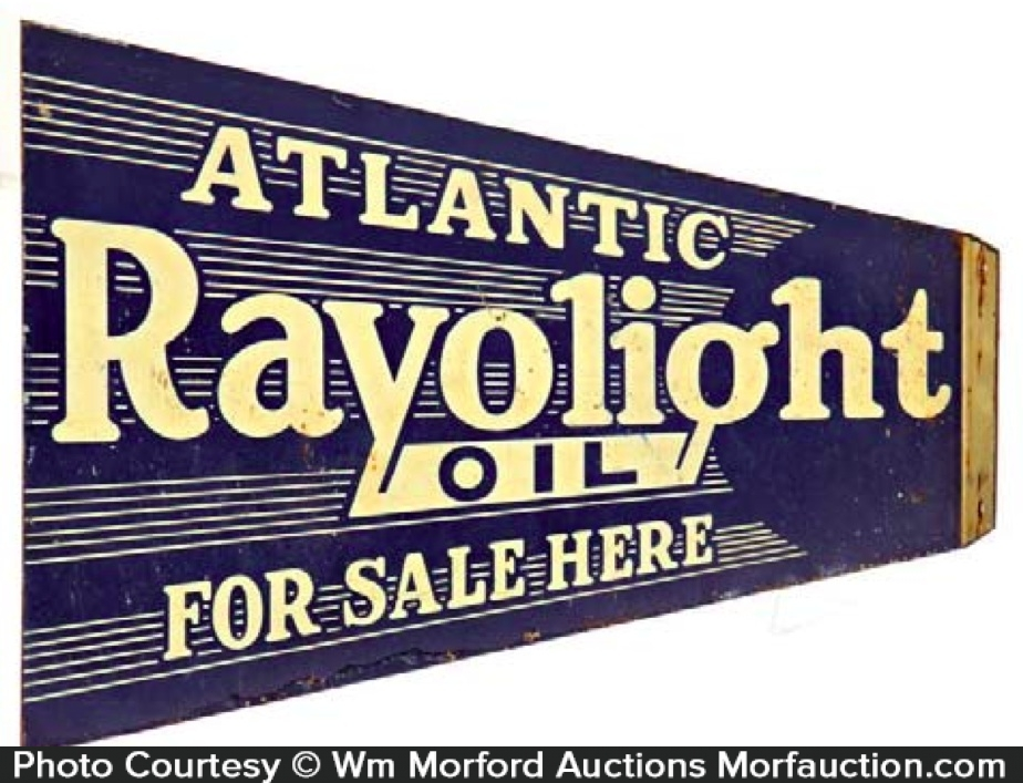 Atlantic Rayolight Oil Sign