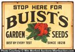 Buist's Seeds Sign