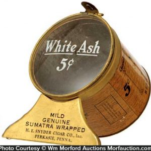 White Ash Cigar Display Tin