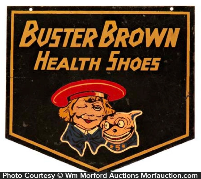Buster Brown Health Shoe Sign