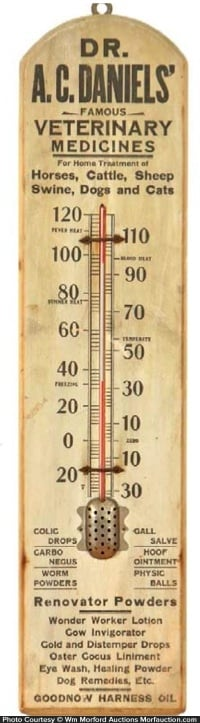 Dr. Daniels' Veterinary Medicines Thermometer