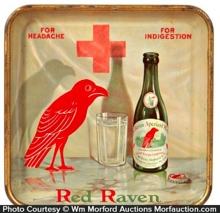 Red Raven Tray