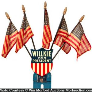 Willkie For President License Plate