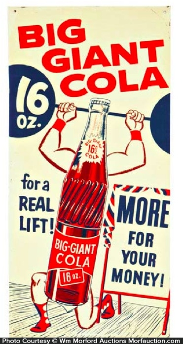 Big Giant Cola Sign