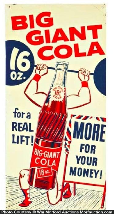 Big Giant Cola Sign