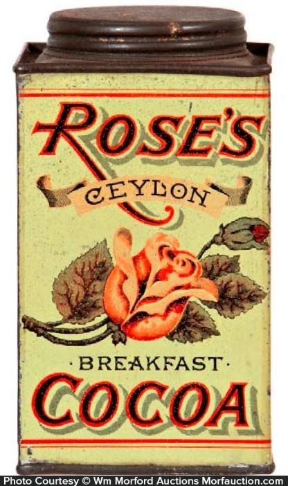 Rose's Cocoa Tin