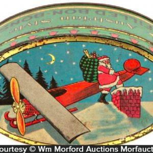 Woolworths Santa Candy Tin