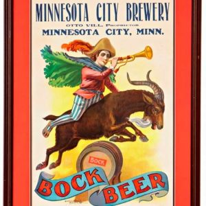 Minnesota City Bock Beer Sign