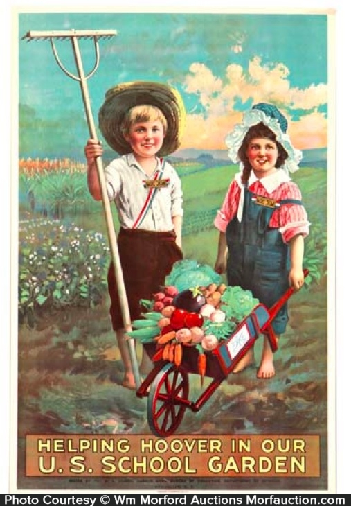 Antique Advertising Wwi Victory Garden Poster Antique
