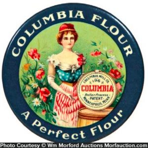 Columbia Flour Pocket Mirror