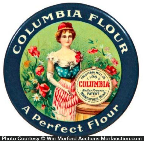 Columbia Flour Pocket Mirror