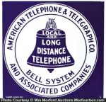 Bell Systems Porcelain Sign