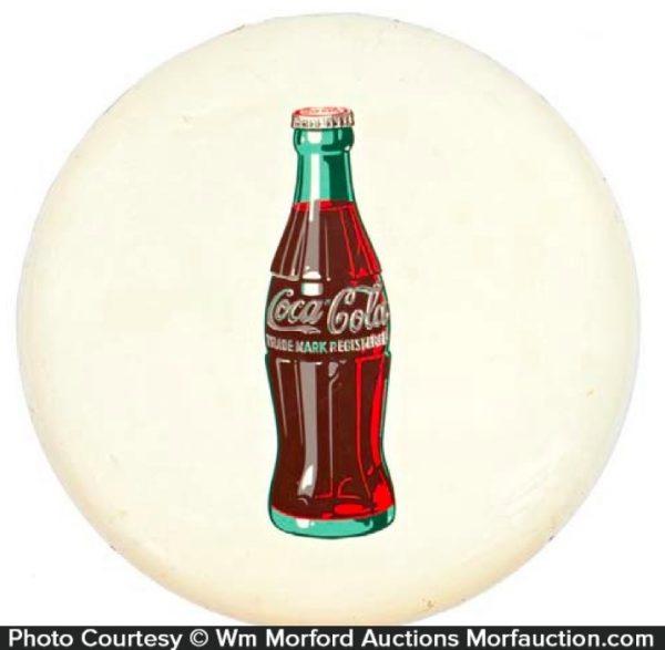White Button Coca-Cola Sign