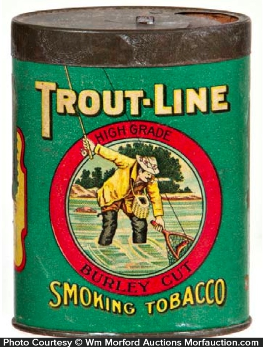 Trout-Line Tobacco Tin