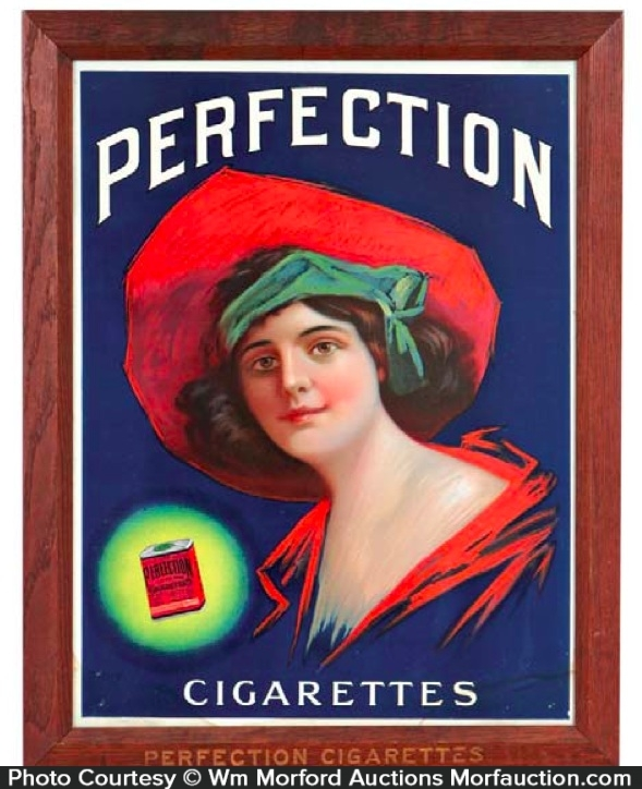 Perfection Cigarettes Sign