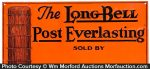 Long Bell Fence Post Sign