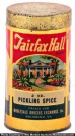 Fairfax Hall Spice Tin