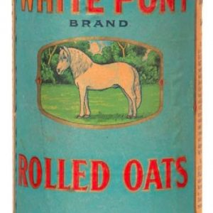 White Pony Oats Box