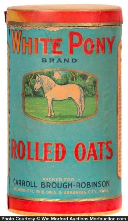 White Pony Oats Box