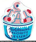California Desserts Ice Cream Sign