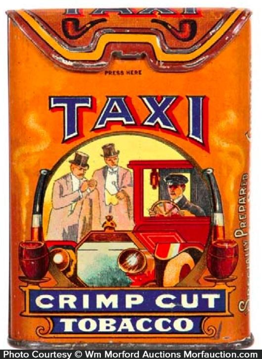 Taxi Tobacco Tin