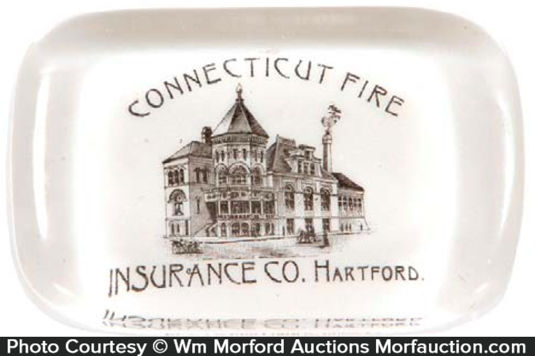 Connecticut Fire Insurance Paperweight