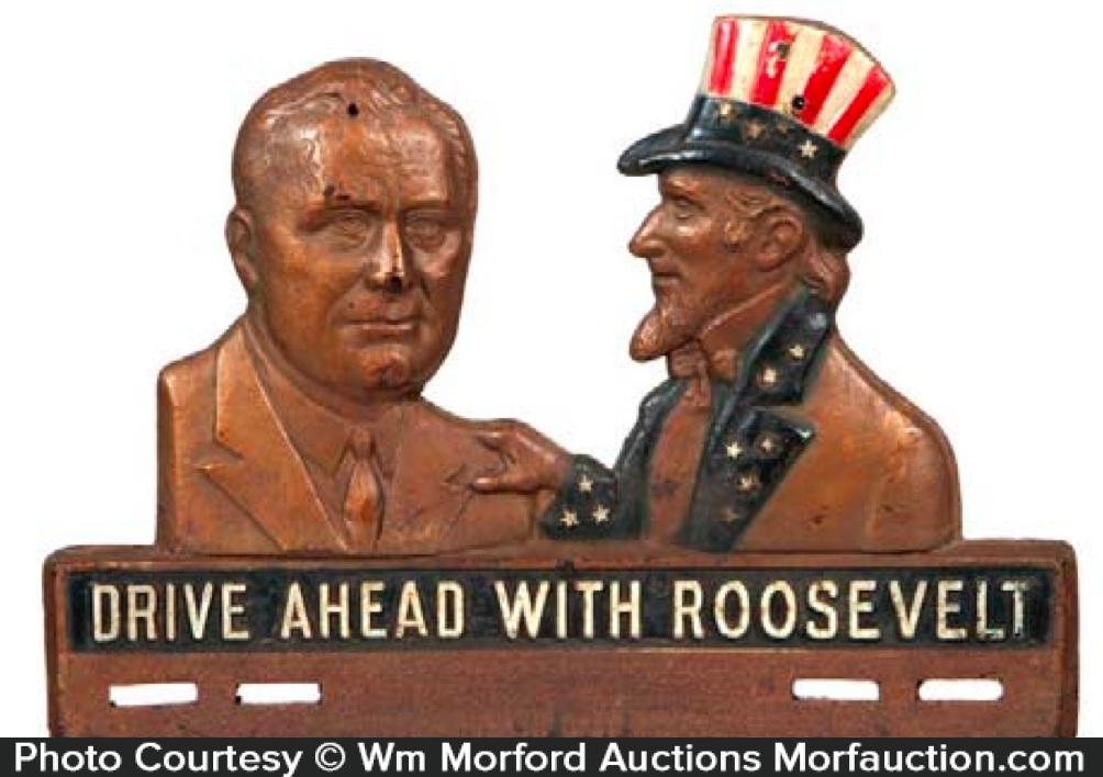 Roosevelt License Plate Topper