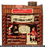 Log Cabin Syrup Tin