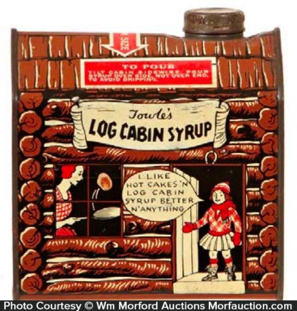 Log Cabin Syrup Tin